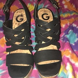 G By Guess Platform Wedges Size 8